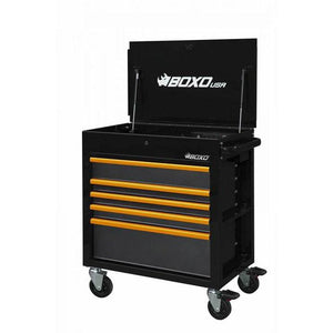 "34"" 5 Drawer Service Cart w Power Strip - Black - Roost Factory Hoosier Offroad"