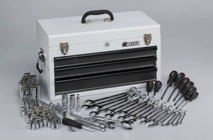 BOXO 185 Piece Metric and SAE Tool Set with 3 Drawer Carry Box - Roost Factory Hoosier Offroad