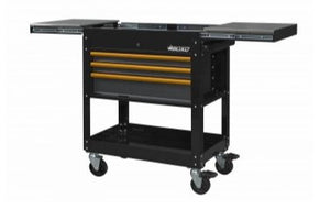 "BOXO 34"" 3 Drawer with Slide Top Service Cart - Black - Roost Factory Hoosier Offroad"