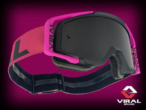 Comp Series Goggles - Black, PINK, PINK - Roost Factory Hoosier Offroad