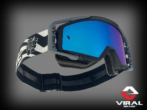Factory Series Goggles - Black, Grey, Zebra - Roost Factory Hoosier Offroad