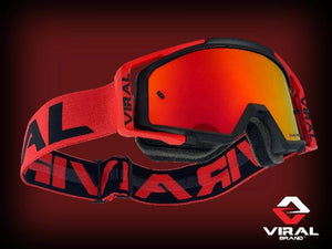Factory Series Goggles - Black, Red, Red/Black - Roost Factory Hoosier Offroad