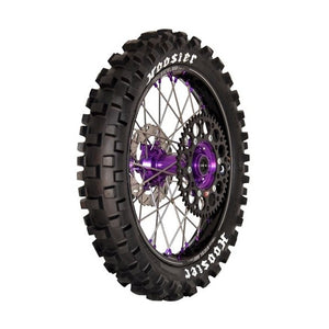 Our IMX25 Rear tire is optimal on a 250 & 450 Off Road bikes in Supercross, Motocross and GNCC. This medium compound offers better traction and durability in dry, hard packed conditions. The medium compound offers just as much traction as a soft compound but last longer for harder, rugged terrains. Optimal air pressure range is 12-14 psi
