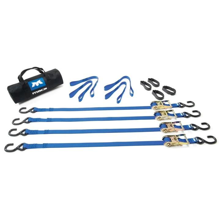 "Mac's Tie Downs Utility Ratchet Pack Black 1"" x 6' (Moto) - Roost Factory Hoosier Offroad"