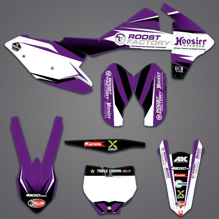 Roost Factory Graphic Kit 85cc-450cc - Roost Factory Hoosier Offroad