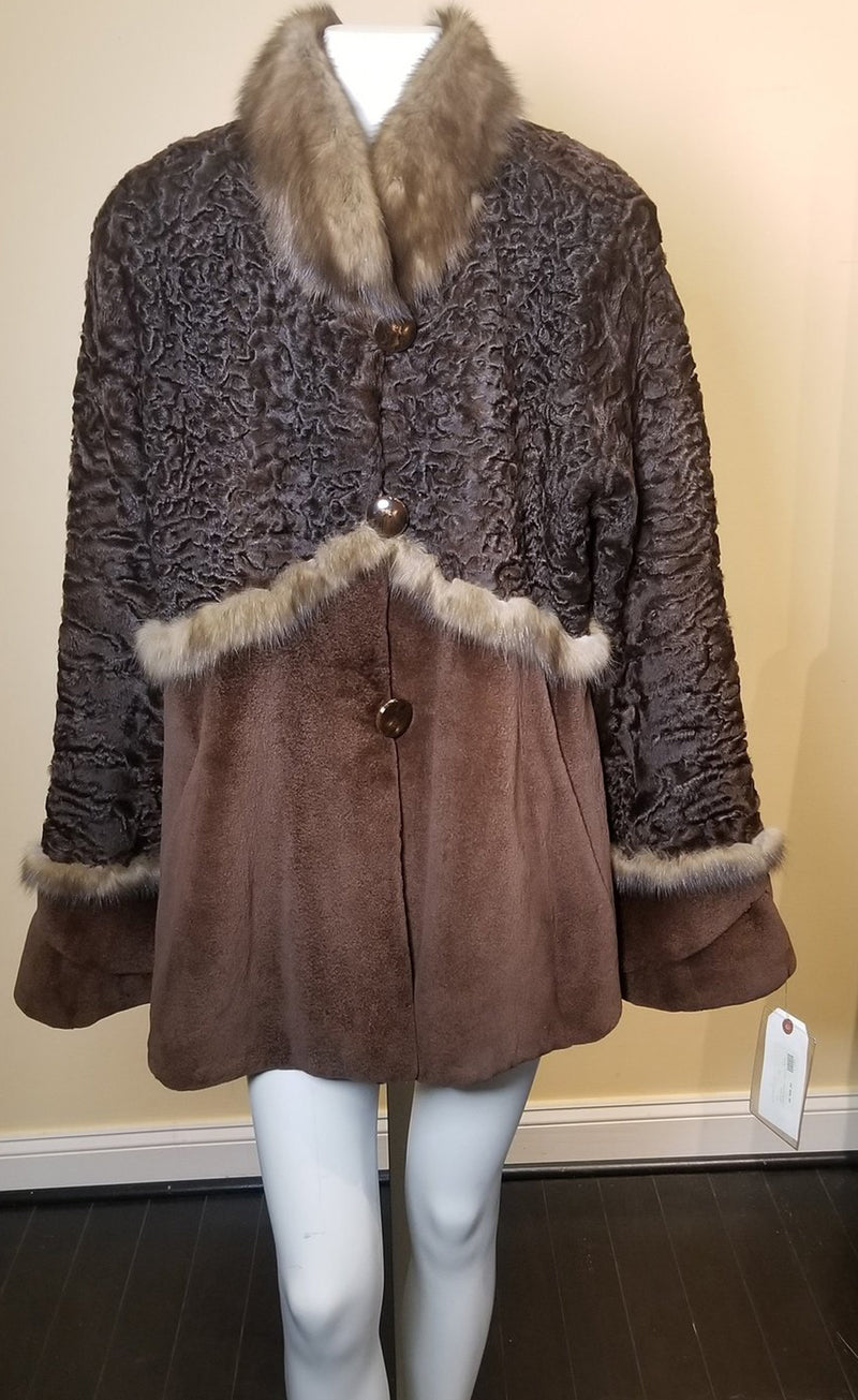 Sheared Mink & Persian Jacket with Sable Trim