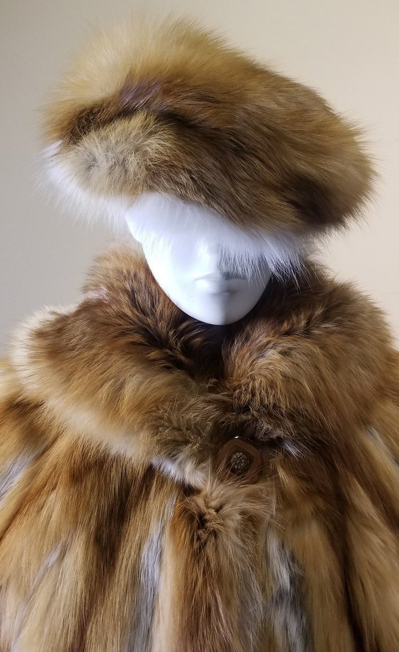Natural Red Fox Hat