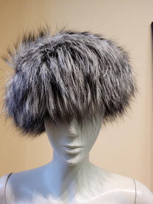 Silver Fox Fur Bucket Hat