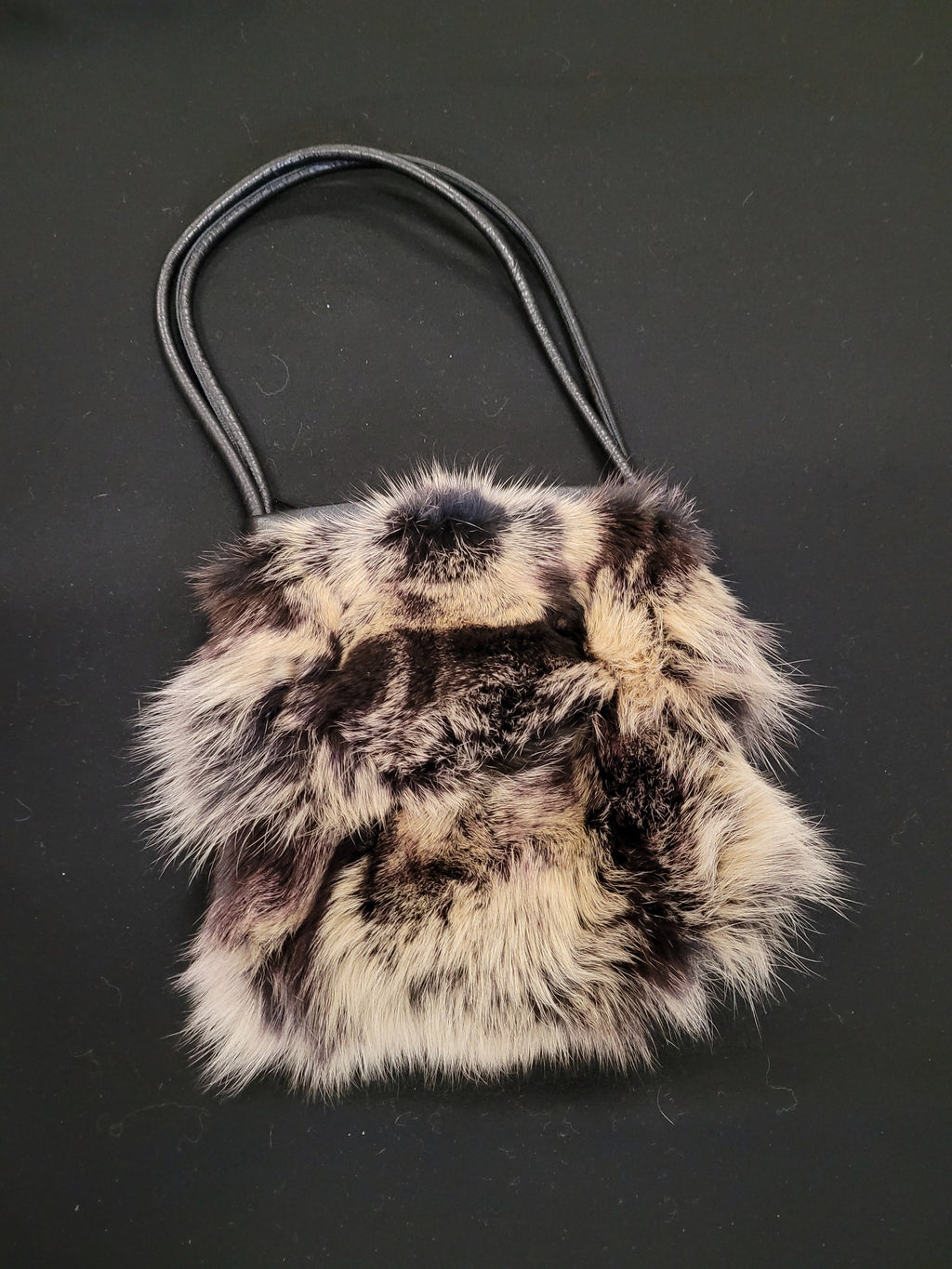 Fox Fur Top Handle Hand Bag