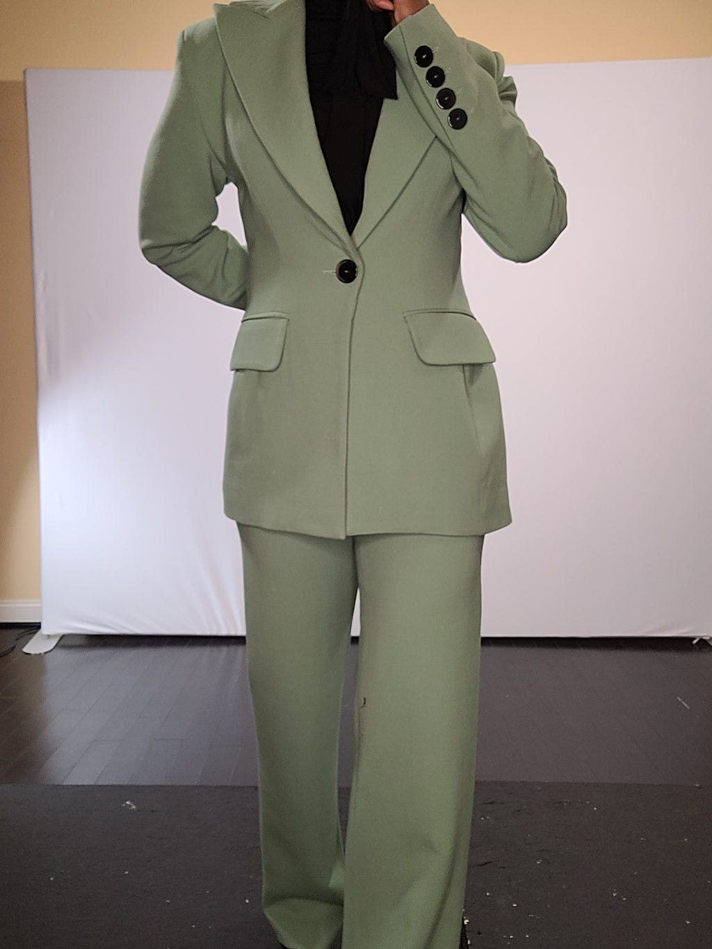 Semi-Fitted Button front Jacket