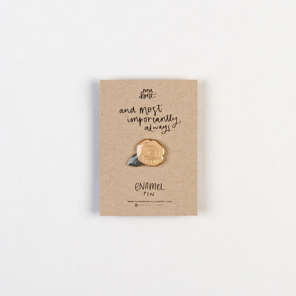 Be Kind Rose Enamel Pin