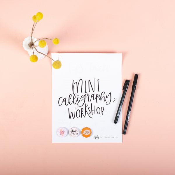 Mini Calligraphy Workshop | May 15th @ 7-8:30pm