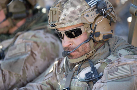 Special Operations member wearing Gatorz Military glasses