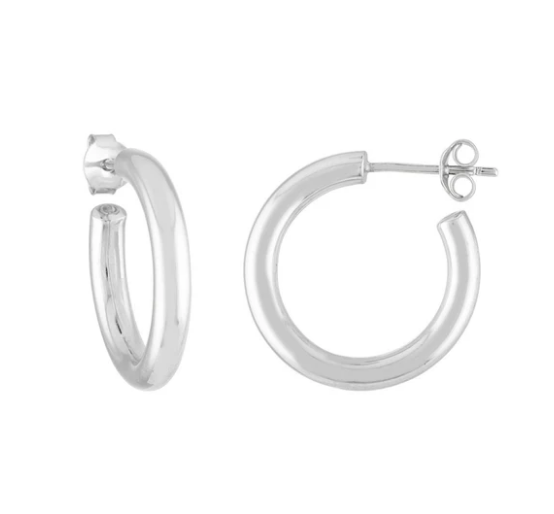 Machete Mini Hoops in Sterling Silver
