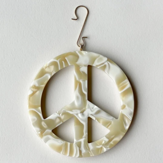 "Machete 3"" Peace Sign Ornament"