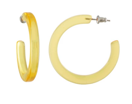 Machete Midi Hoops in Lemon