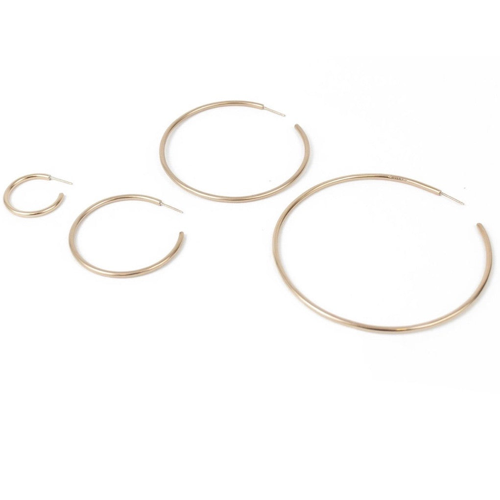 Seaworthy Brass Angela Hoops