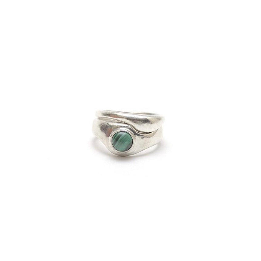 Seaworthy Emmeline Silver Ring Set with Lapis