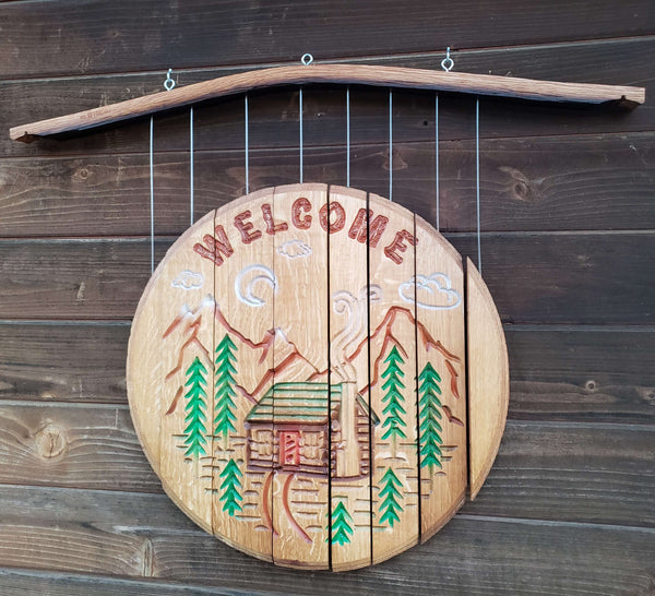 Cabin Welcome Wine Chime