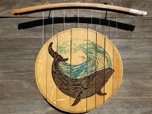 Wind Chime-Whale/Wave/Surfer