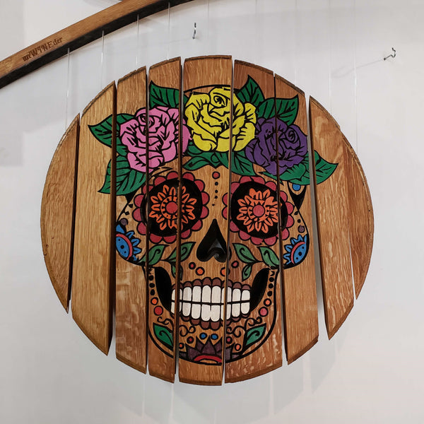 Female Sugar Skull Wine Chime