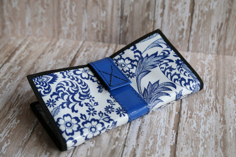 Blue and White Wallet