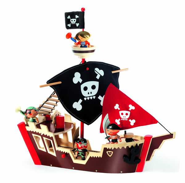Djeco Arty Toys Ze Pirate Boat