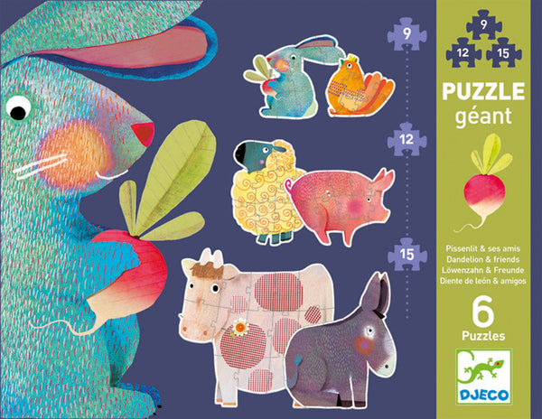 Djeco Dandelion and Friends Giant Puzzles DJ07145