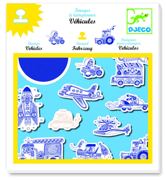 Djeco Stamp Set Vehicles