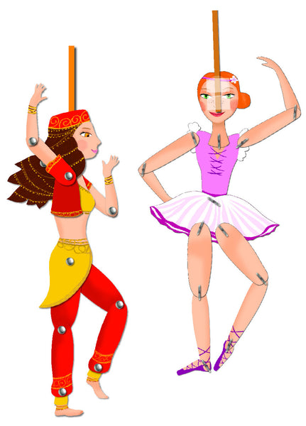 Djeco Dancing Girls Puppets