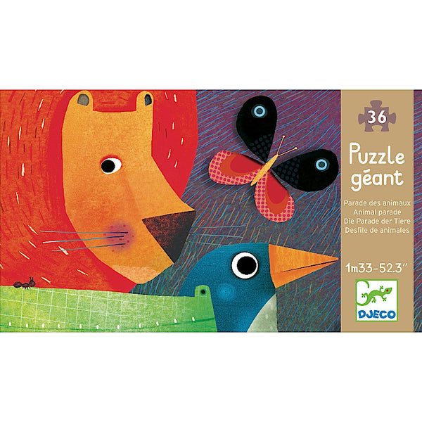 Djeco Giant Puzzle Animal Parade