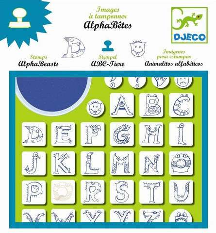 Djeco Alpha Beasts Stamp Set