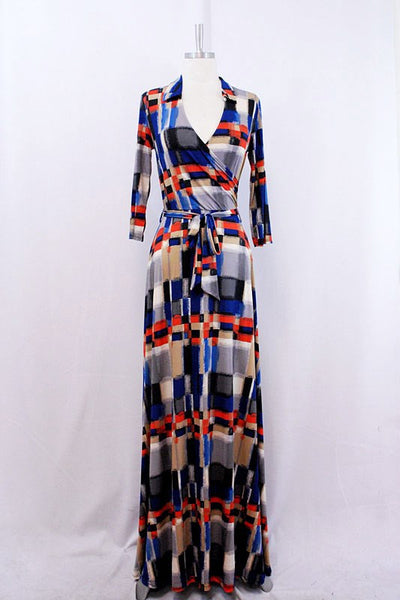 Venechia Print Maxi Wrap Dress