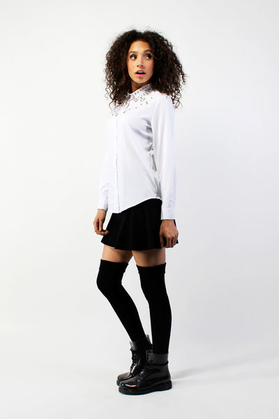 Rising Star Collared Sport Shirt - White