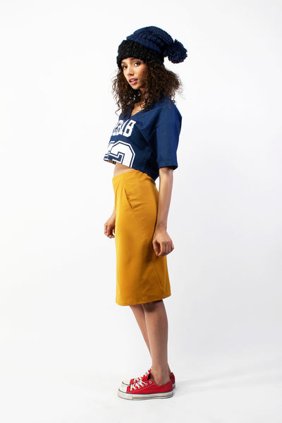 Jersey Crop Top - Blue