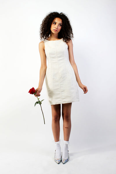 Alice Dress with Seam Detail - Cream