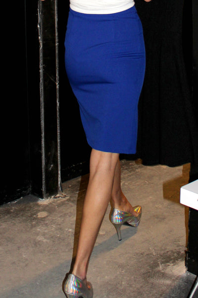M-Slit Skirt - Electric Blue