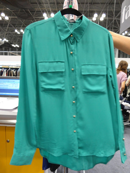 The Row Button-Up Shirt - Teal
