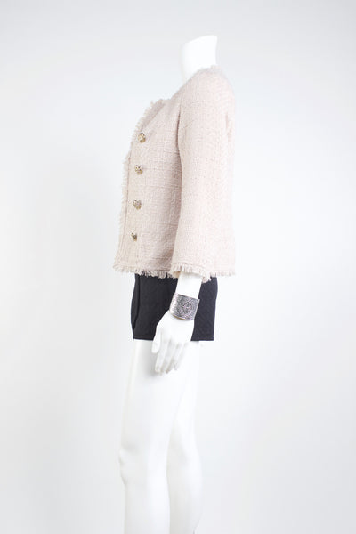 Gabrielle Tweed Jacket - Sand