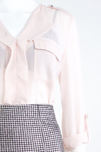 Double Pocket Blouse - Pink