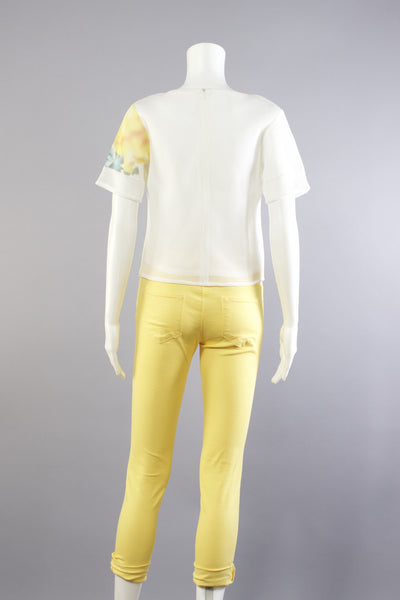 Lemon Yellow Denim Jeans