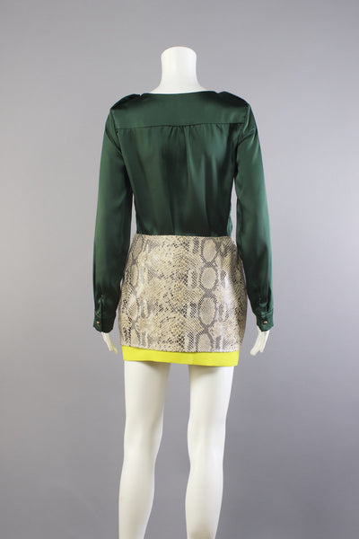 Snake Skin Pegged Skirt