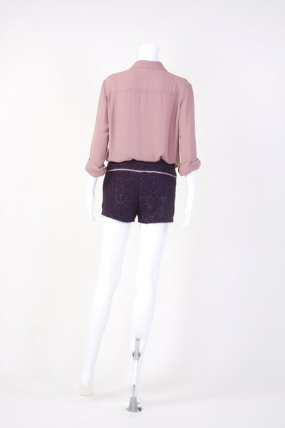 Pink Heather Long Sleeve Blouse