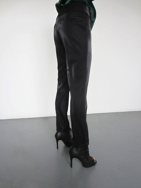 Stella Metallic Slim Trousers - Black