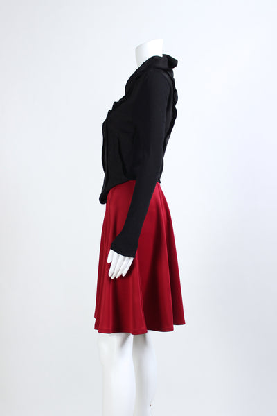 A-Line Midi Skirt - Red