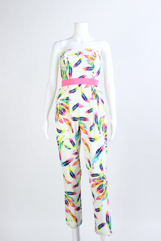 Feather Printed Jumpsuit
