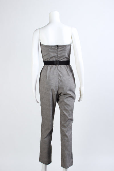 Glen Plaid Jumpsuit