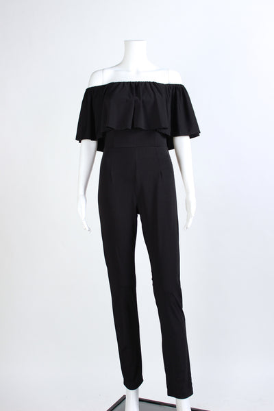 Off-the-Shoulder Jumpsuit Black