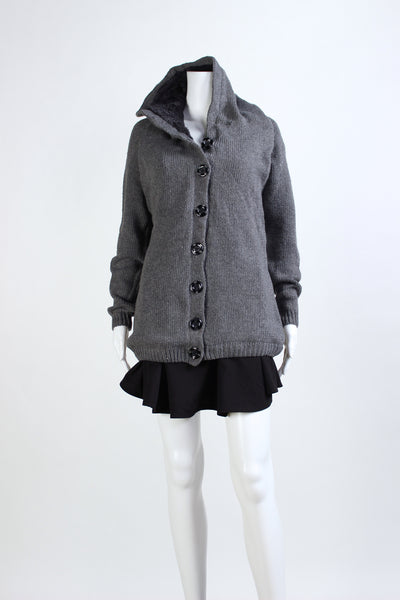 Fisherman's Hooded Cardigan