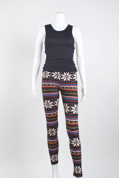 Fair Isle Freeze Leggings LG 007
